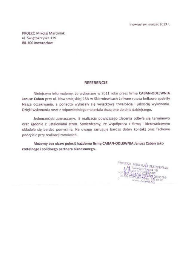 PROEKO Mikołaj Marciniak