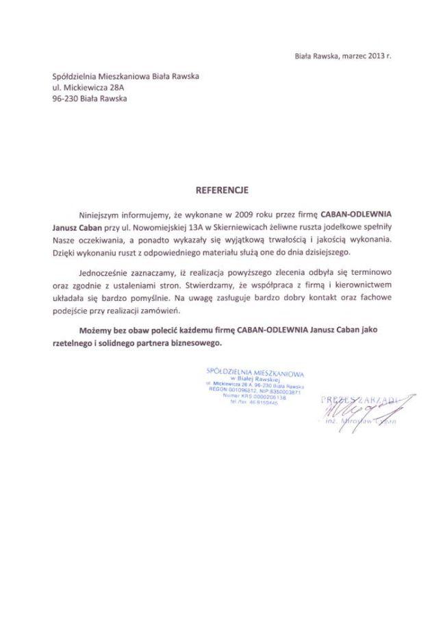 Spółdzielnia Mieszkaniowa Biała Rawska