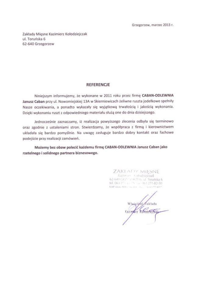 Zakłady Mięsne Kazimierz Kołodziejczak