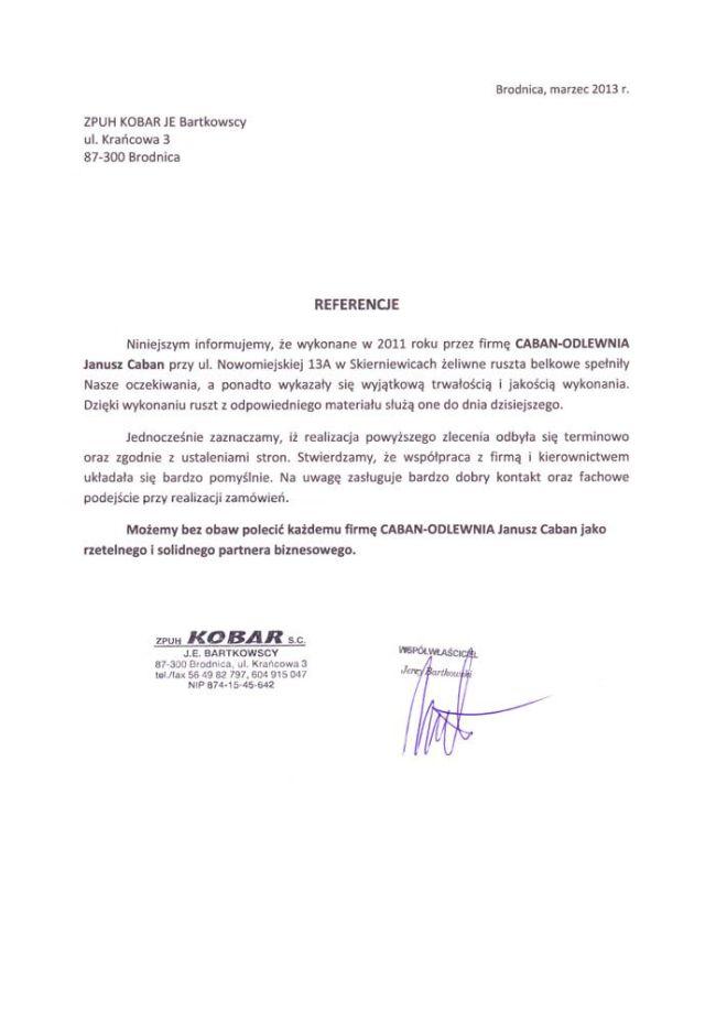 ZPUH KOBAR s.c.