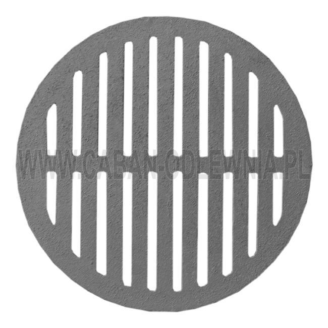Żeliwny ruszt okrągły - rzut z góry