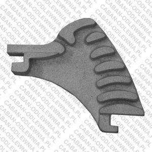Żeliwny ruszt segmentowy - rzut z boku