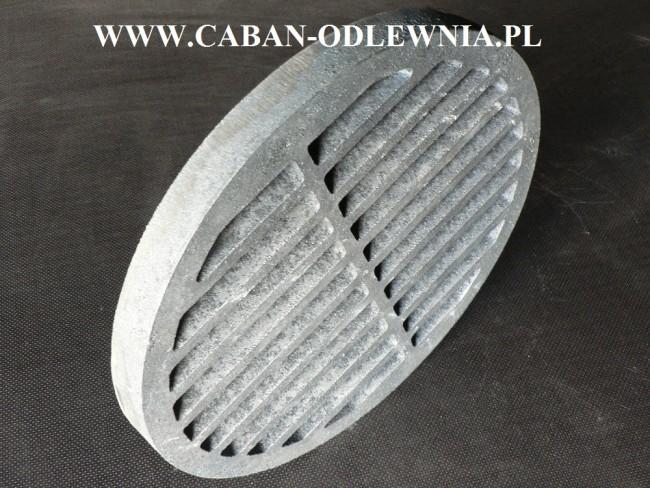 Żeliwne ruszta okrągłe fi 37cm do pieca lub kuchni