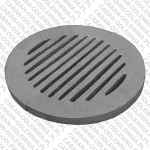 Żeliwny ruszt okrągły fi 300mm do pieca