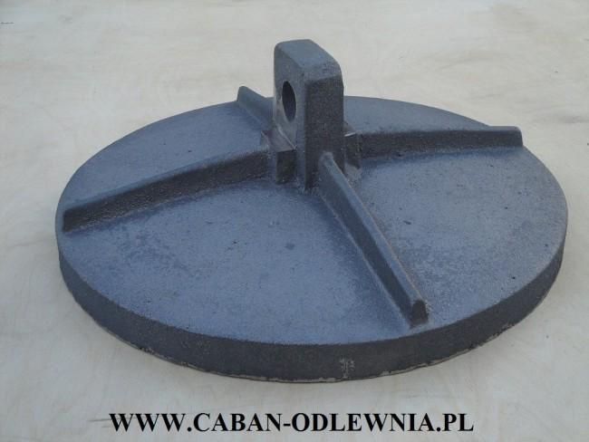 Deflektor żeliwny fi 43cm do pieca z palnikiem retortowym