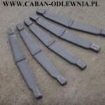 Ruszt sztabkowy o długości 50cm wykonane z trwałego żeliwa