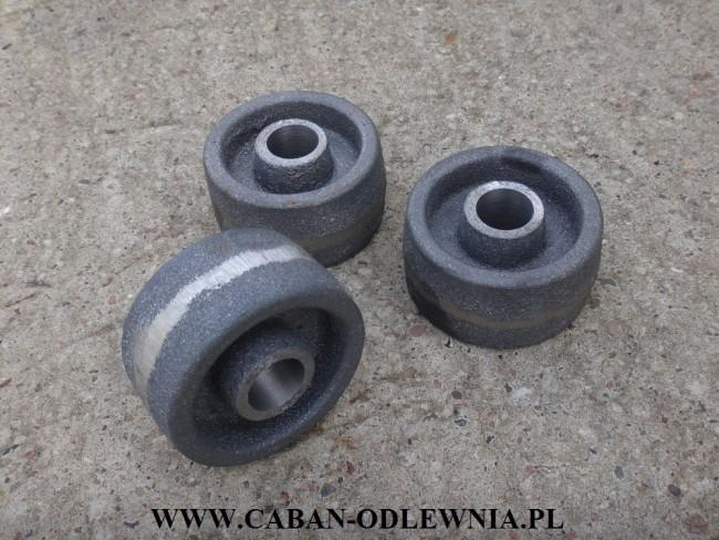 Kółka żeliwne fi 90mm - producent CABAN-ODLEWNIA