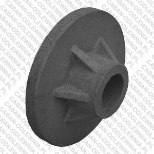 Żeliwna piasta koła o średnicy 260mm
