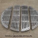 Ciężki ruszt okrągły fi 105cm składany z 4 części