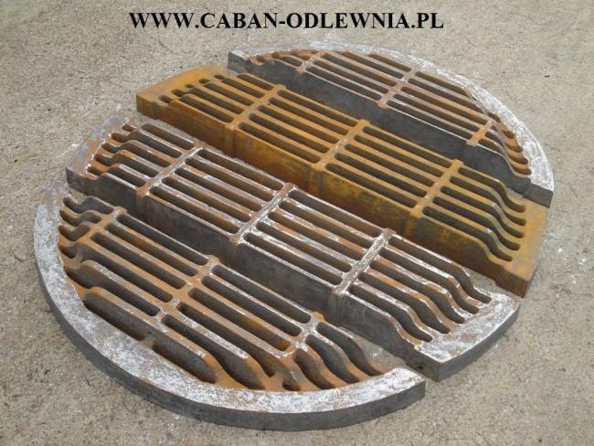 Masywny ruszt okrągły o średnicy 1050mm do kotła parowego