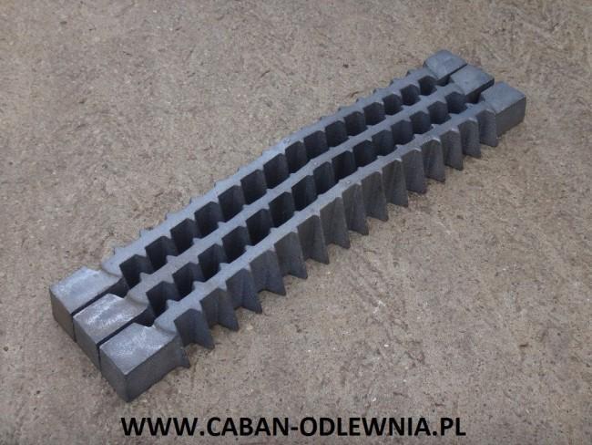 Ruszta jodełkowe o długości 720mm do pieca lub kotła przemysłowego