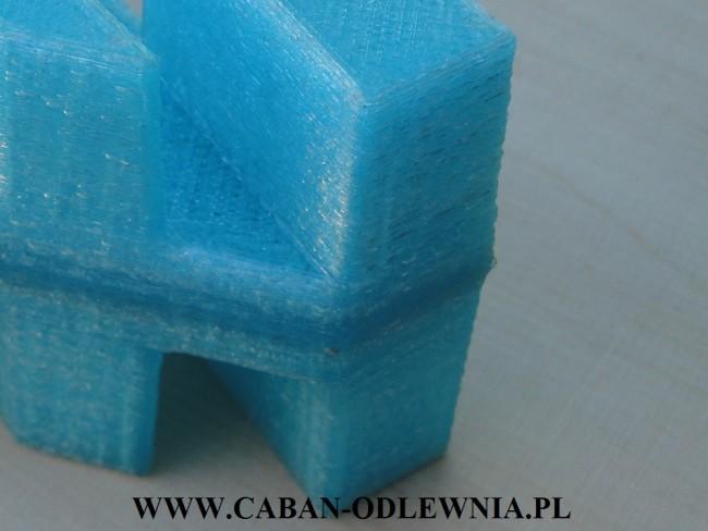 Wygląd krawędzi modelu odlewniczego wykonanego na drukarce 3D