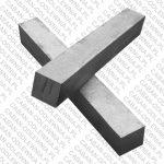 Pręt żeliwny o przekroju kwadratowym