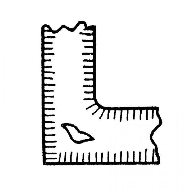 Jama skurczowa powstała z powodu jednostronnego wyokrąglenia modelu odlewniczego