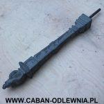 Ozdobny słupek chodnikowy typu Pochodnia - producent odlewnia żeliwa