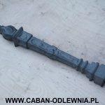 Słupek nagrobny żeliwny ozdobny Pochodnia - producent odlewnia żeliwa
