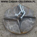 Deflektor do pieca o dużej mocy zawieszony na szeklach