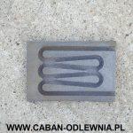Obudowa grzałki stempla do znakowania palet wykonana z żeliwa