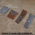 Elementy paleniska odtworzone na podstawie starych części
