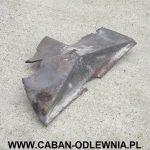Zniszczony element wkładu kominkowego do rekonstrukcji